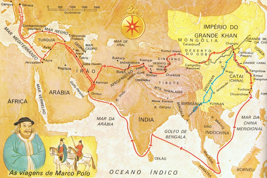 The Great Silk Road is an ancient trading road